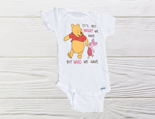Load image into Gallery viewer, Pooh Baby Onesie  Toddler classic Pooh and Piglet Onesie Baby gift  Custom onesie
