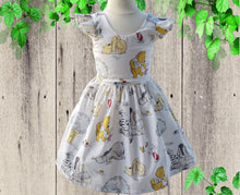 Load image into Gallery viewer, POOH BEAR DRESS Birthday Party Dress - Cute Princess Dress Baby Girl Outfits