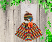 Load image into Gallery viewer, THANKSGIVING OUTFIT - Holiday dress - Girls Thanksgiving dress - Pumpkin outfit - Girls holiday outfit