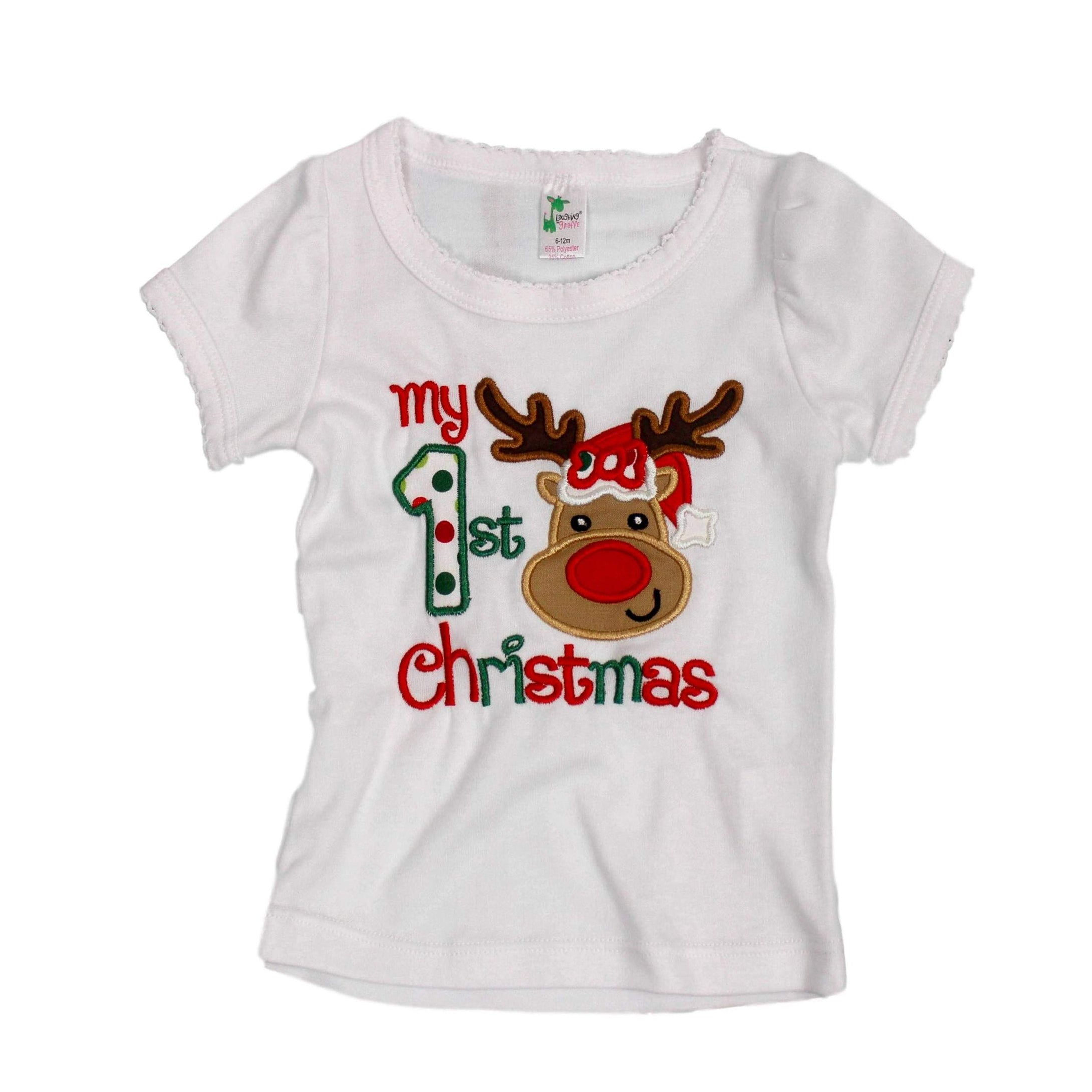 Toddler First Christmas shirt Reindeer First Christmas shirt Christmas baby shirt 1st Christmas shirt