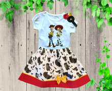 Load image into Gallery viewer, TOY STORY BIRTHDAY outfit - Girls Jessie birthday dress - Personalized Toy Story Jessie outfit - Little girls  dress