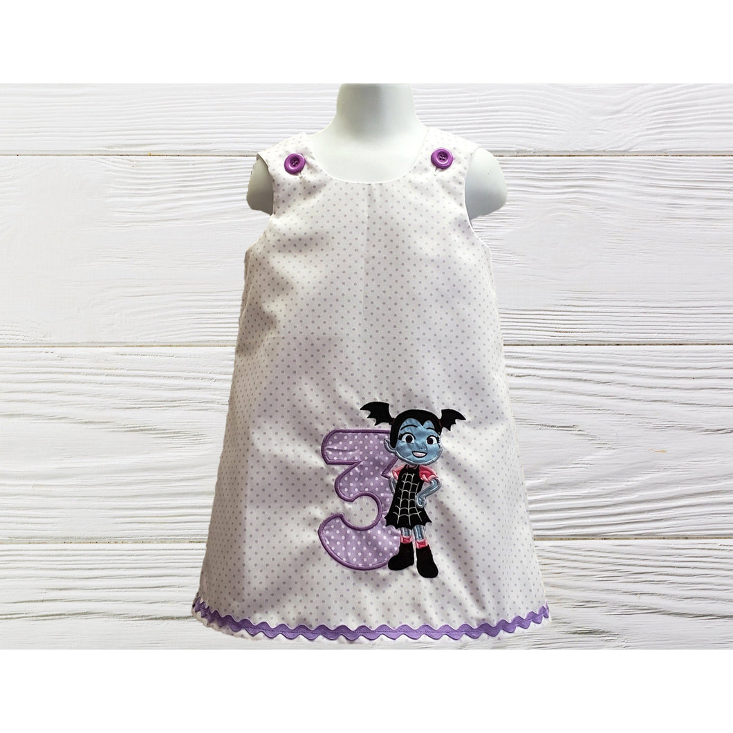 Vampirina dress Girl birthday dress  Personalized Vampirina dress Toddler Baby  A-line jumper dress