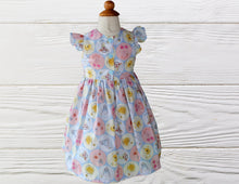 Load image into Gallery viewer, POOH BABY DRESS - Pooh Birthday Dress - Pooh Party Outfit - 1st Birthday Gift - Outfit For Baby Girl - Bear Baby Dress