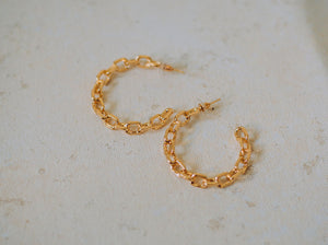 Confident Gold Chain Hoops