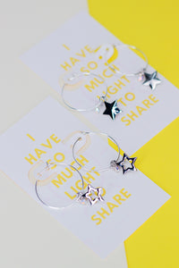 SILVER Light UP Dangles