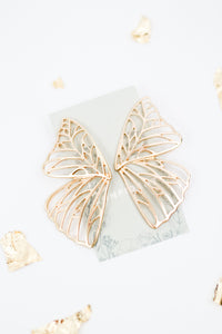 Aphrodite Gold Butterfly Studs