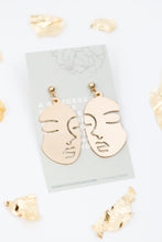 Load image into Gallery viewer, Inner Goddess Gold Dangle Earrings
