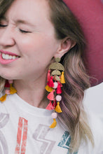 Load image into Gallery viewer, Gotta Have Faith Tassel Pom Pom Earrings