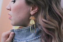 Load image into Gallery viewer, Positive Vibes Gold Earrings