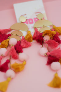 Gotta Have Faith Tassel Pom Pom Earrings