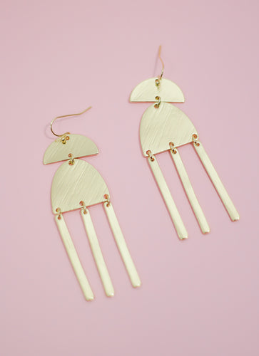 Positive Vibes Gold Earrings