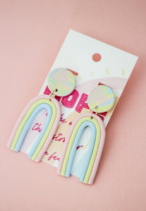 LOOK FOR THE RAINBOWS Handmade Clay Earrings