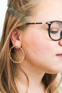 Courage Hoop Studs