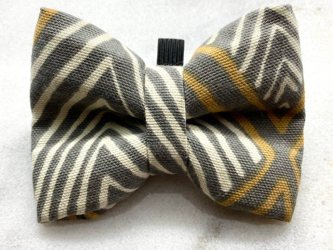 Mustard Gray Stripes