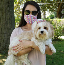 Load image into Gallery viewer, Twinning in Fetching Style Face Mask and Matching Molly Bow