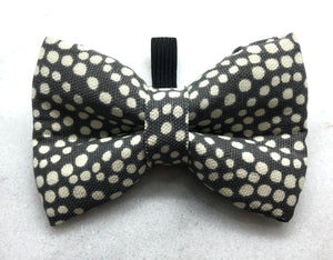 Charcoal with White Polka Dots