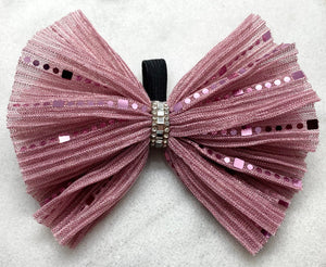 Rose Sparkle Collar Bow