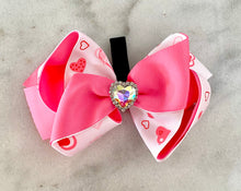 Load image into Gallery viewer, Stole my Heart Ribbon Collar Bow