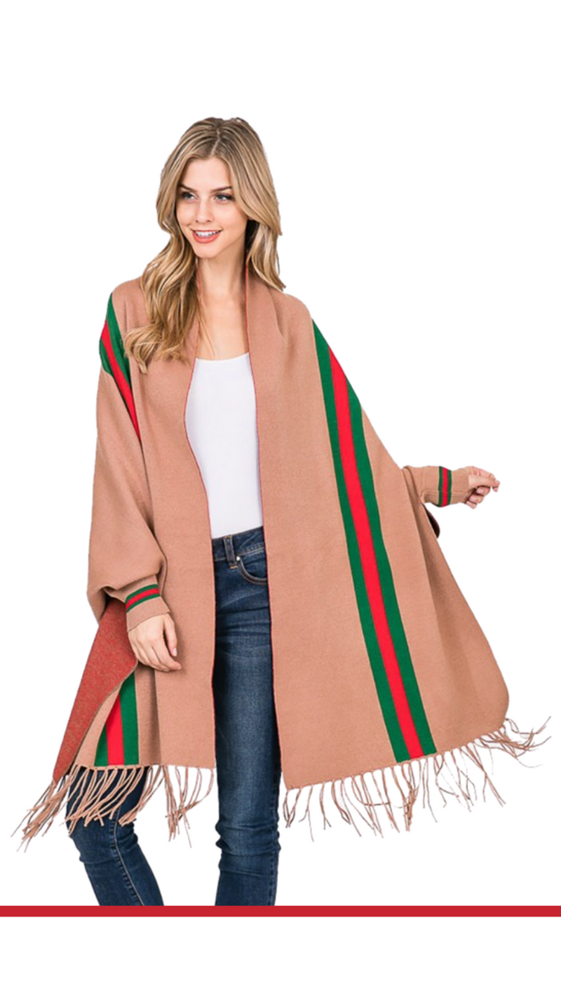Claire Color Stripe Cardigan