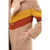 Color Block Teanna Teddy Bear Coat