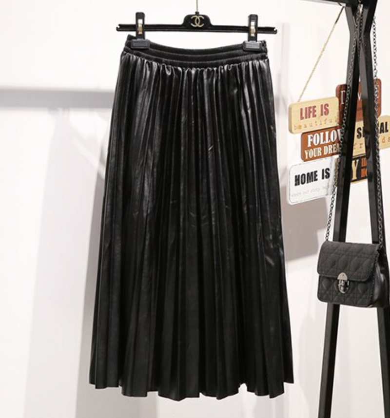 Madison Faux-Leather Skirt