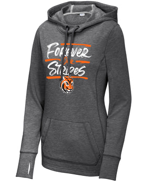 Jordan Creek Forever Our Stripes Womens Triblend Hooded Fleece