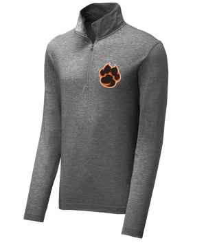 School Pride Mens Triblend 1/4 Zip Pullover