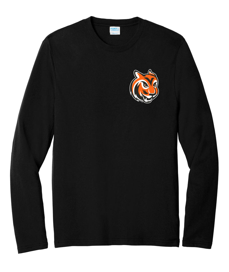 Tiger Head Long Sleeve Blend Tee