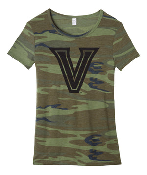Midnight V Camo Womens Fitted Tee