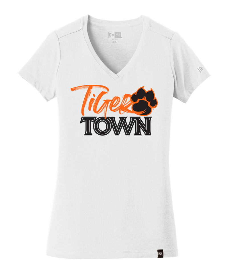 Tiger Town Womens New Era Heritage V-Neck Tee