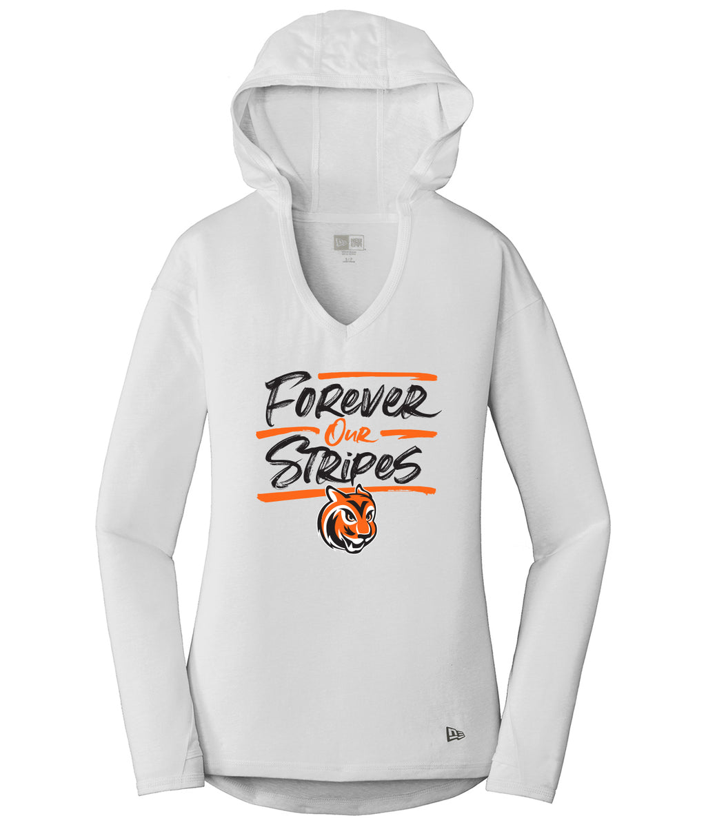 Forever Our Stripes Womens Performance Hoodie Tee