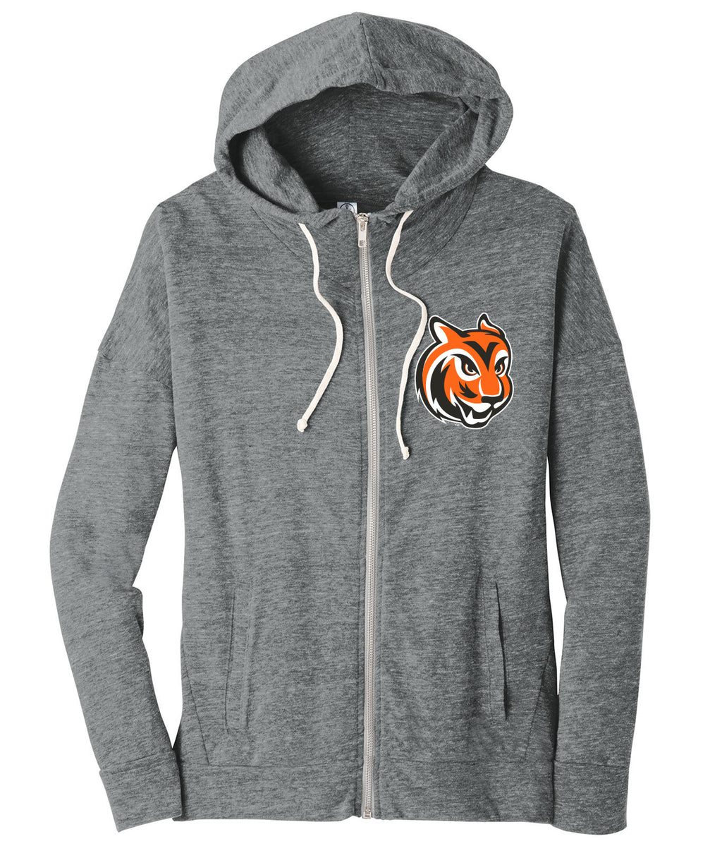 Tiger Head Womens Alternative Full-Zip Sweatshirt