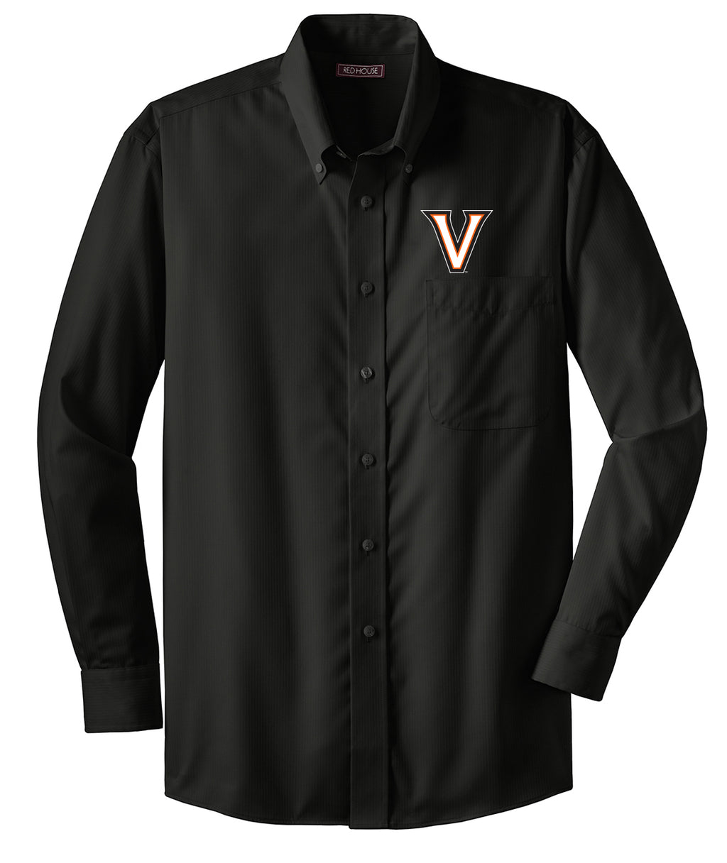 Valley V Solid Dobby Dress Shirt