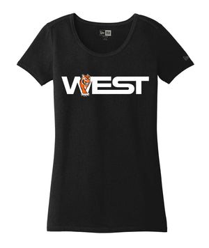 West Womens New Era Triblend Scoop Tee
