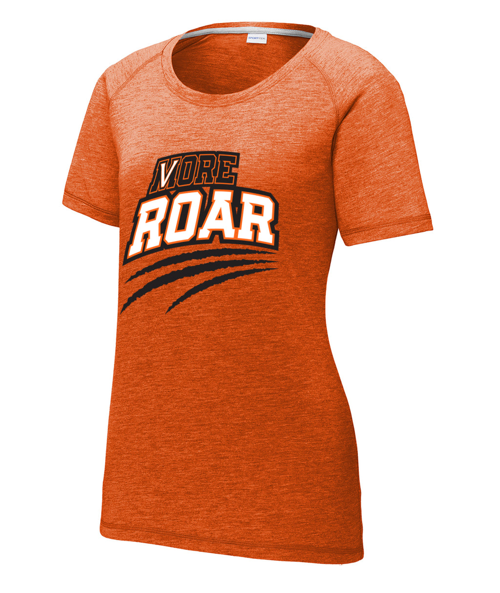 More Roar Womens Triblend Raglan Tee