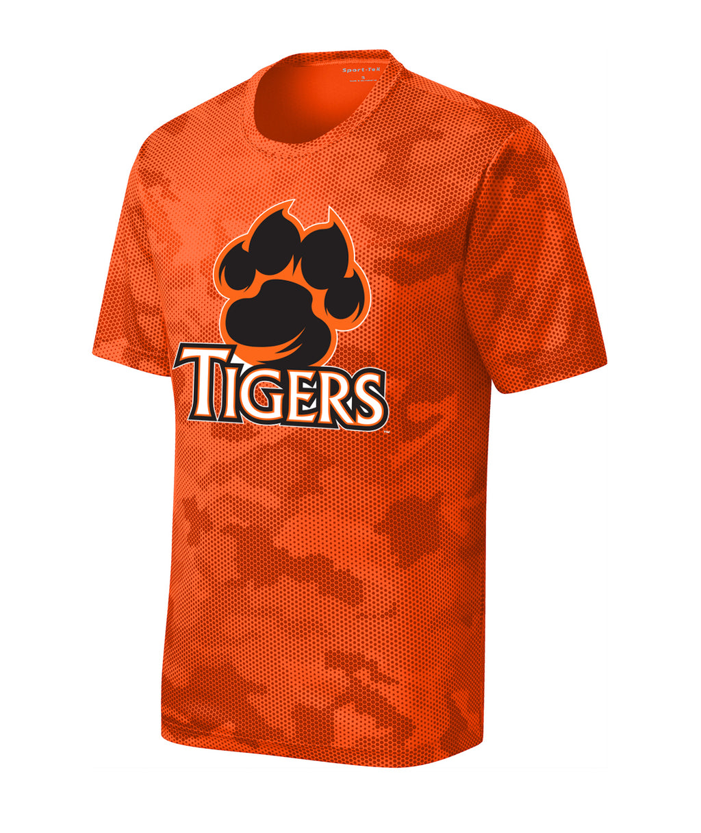 Tigers Youth CamoHex Performance Tee