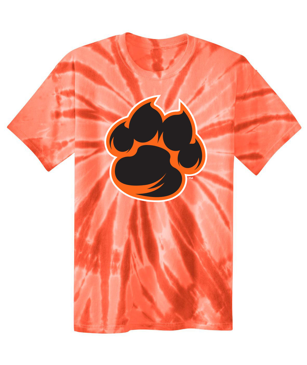 Tiger Paw Youth Tie-Dye Tee