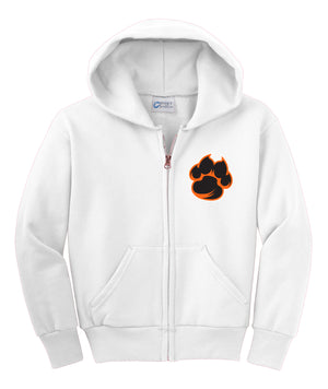 Tiger Paw Youth Fleece Full-Zip Hooded Sweatshirt