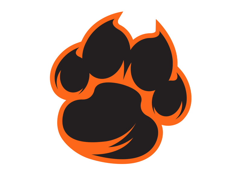 Valley Tiger Paw Sticker