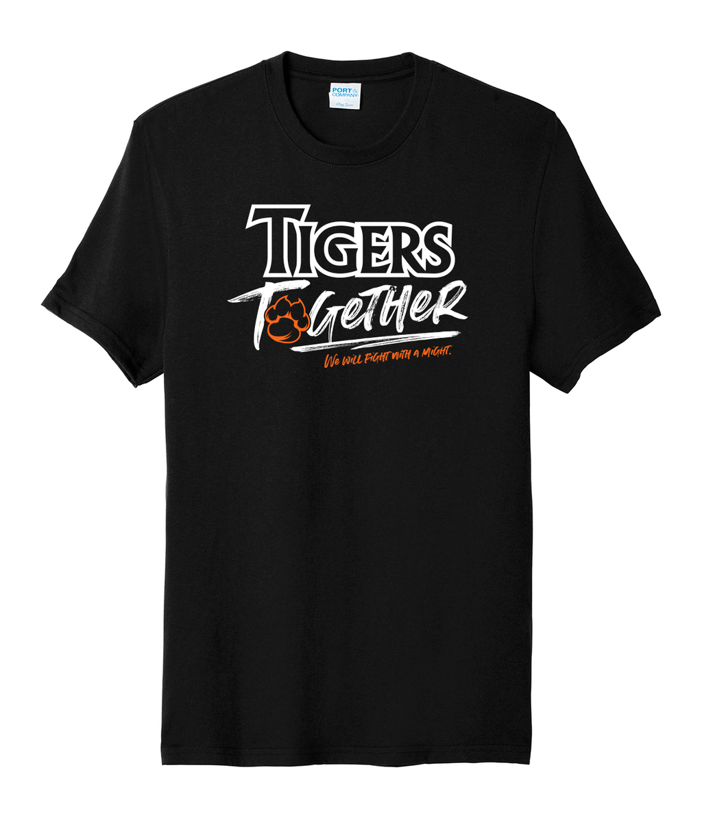 Tigers Together Adult Black Softstyle Tee