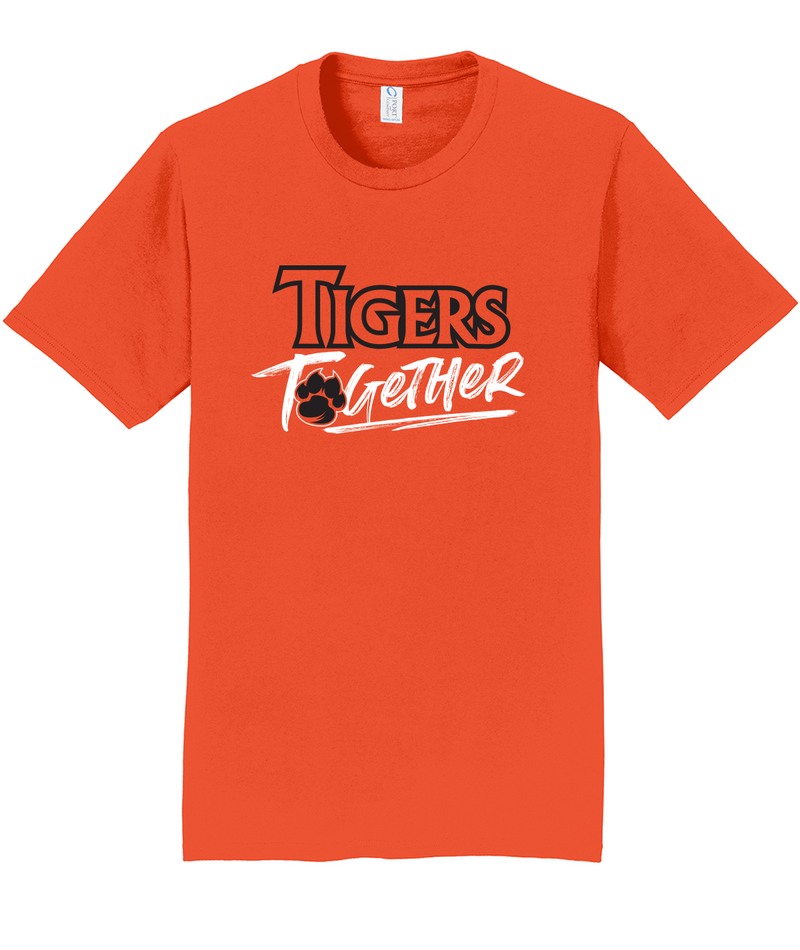 Tigers Together Adult Orange Softstyle Tee