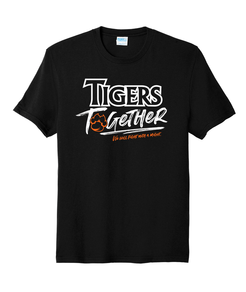 Tigers Together Youth Black Softstyle Tee