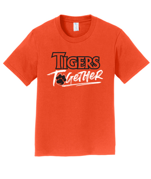 Tigers Together Youth Orange Softstyle Tee