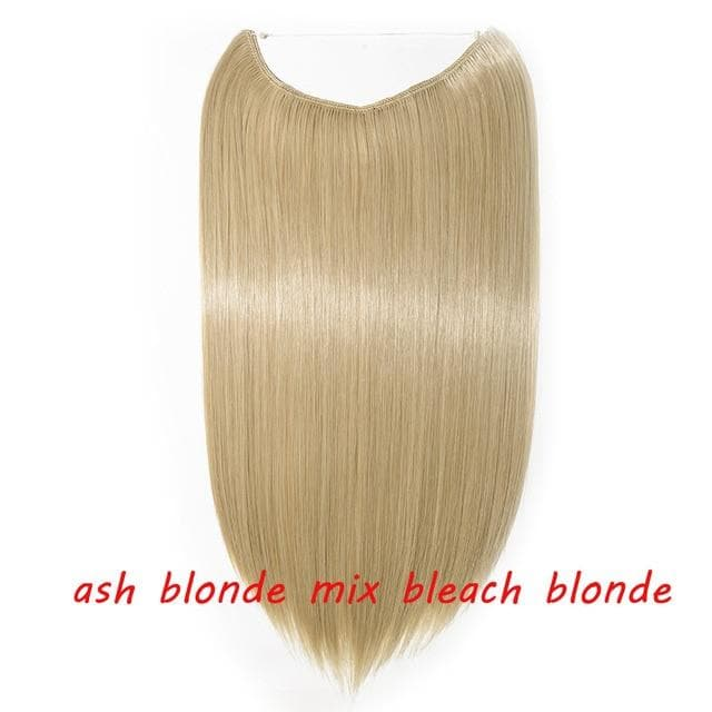 One Piece Woman Invisible Wire Hair Extensions, No clip Hair