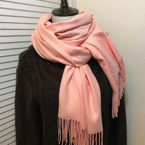 High Quality Solid Color Scarf With Tassel