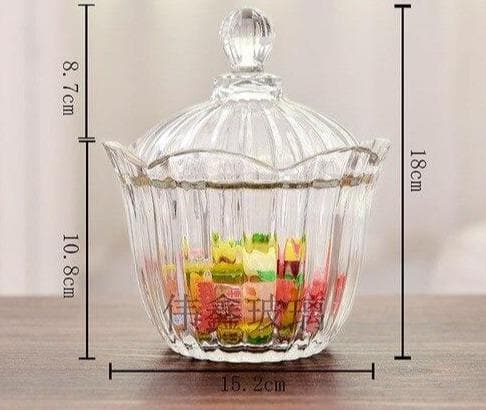 Luxury Crystal Decoration Glass Bowel For Candy, Fruit & Flower