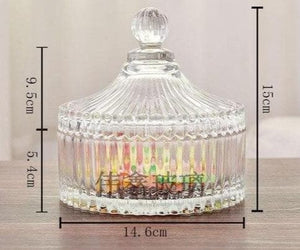 Luxury Crystal Decoration Glass Bowel For Candy and Flower