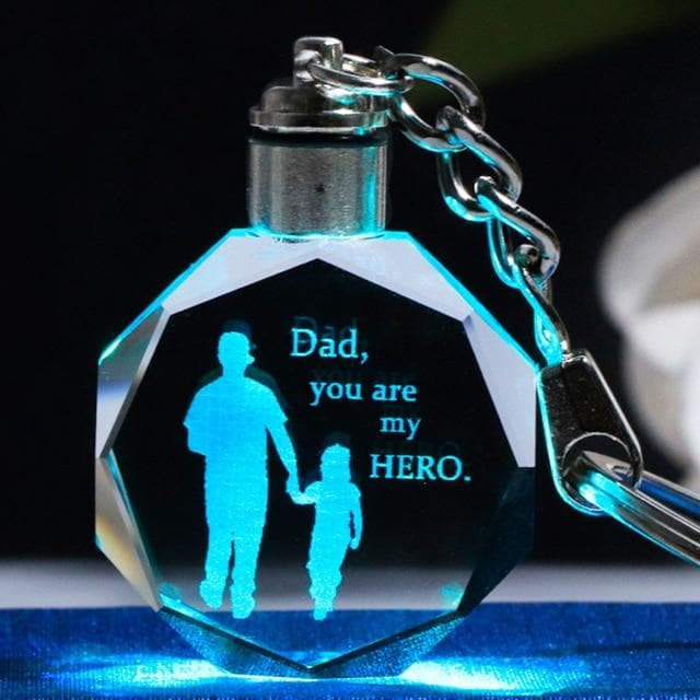 Father's Day Gift K9 LED Crystal Key Chain