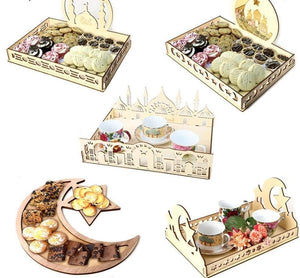 Religious Ramadan Kareem Gift Box Dessert Tray Craft  Festival Table Decoration
