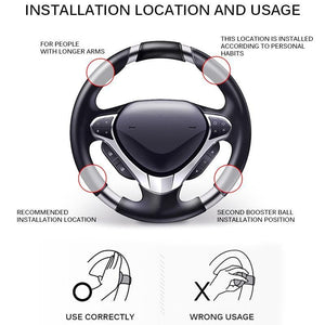 Universal 360 Steering Wheel Booster Knob